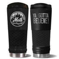 MLB New York Mets 24 oz. Powder Coated Stealth Draft Tumbler