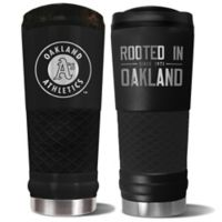 MLB Oakland Athletics 24 oz. Powder Coated Stealth Draft Tumbler