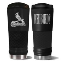 MLB St. Louis Cardinals 24 oz. Powder Coated Stealth Draft Tumbler