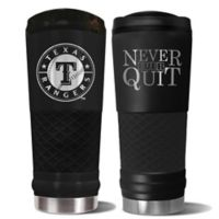MLB Texas Rangers 24 oz. Powder Coated Stealth Draft Tumbler