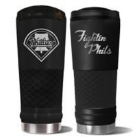MLB Philadelphia Phillies 24 oz. Powder Coated Stealth Draft Tumbler