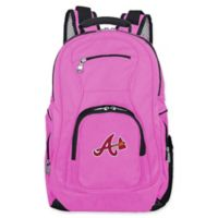 MLB Atlanta Braves 19-Inch Laptop Backpack in Pink