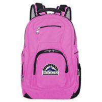 MLB Colorado Rockies 19-Inch Laptop Backpack in Pink