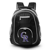 MLB Colorado Rockies 19-Inch Laptop Backpack in Black