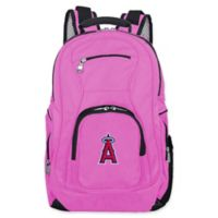 MLB Los Angeles Angels 19-Inch Laptop Backpack in Pink