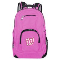 MLB Washington Nationals 19-Inch Laptop Backpack in Pink