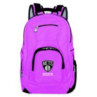 NBA Brooklyn Nets 19-Inch Laptop Backpack in Pink