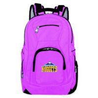 NBA Denver Nuggets 19-Inch Laptop Backpack in Pink