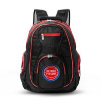 NBA Detroit Pistons 19-Inch Laptop Backpack in Black