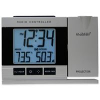La Crosse Technology Projection Alarm Clock with Indoor/Outdoor Temperature in Silver
