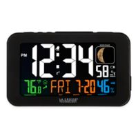 La Crosse Technology Atomic Color LCD Alarm Clock in Black