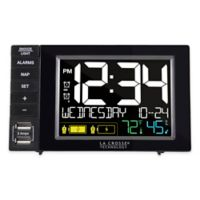 La Crosse Technology Duel USB Alarm Clock Charging Station in Black