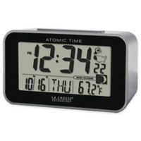 La Crosse Technology Atomic Alarm Clock with Indoor Temperature in Black