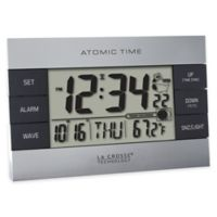 La Crosse Technology Atomic Alarm Clock with Indoor Temperature in Grey