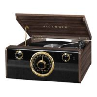 Victrola Mid-Century 3-in-1 Bluetooth® Record Player in Espresso