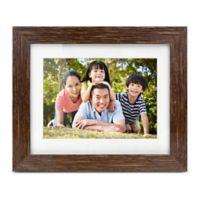 Aluratek 8-Inch Distressed Wood Digital Photo Frame in Brown