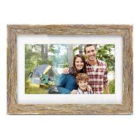 Aluratek 10-Inch Distressed Wood Digital Photo Frame in Brown