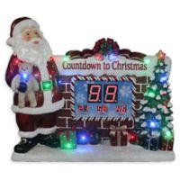 National Tree Company Christmas Countdown Santa Table Clock