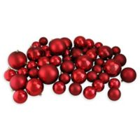 Northlight® 50-Piece Shiny and Matte Ball Ornaments Set in Red