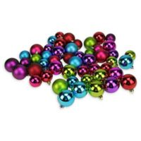 Northlight® 50-Piece Shiny and Matte Ball Ornaments Set in Jewel Tones