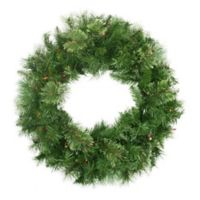 24-Inch Pre-Lit Mixed Cashmere Pine Wreath