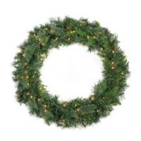 36-Inch Pre-Lit Mixed Cashmere Pine Wreath