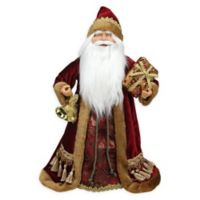 18-Inch Santa Claus Tree Topper in Gold/Red
