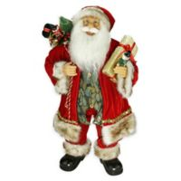 24-Inch Santa Claus with Gift Bag Figurine