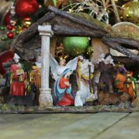 18-Inch Christmas Nativity Stable Set