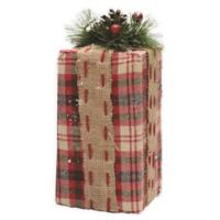 10-Inch Glitter Snow Decorative Gift Box