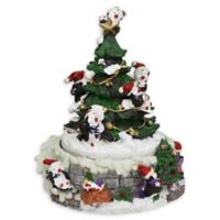 6-Inch Rotating Penguin Christmas Music Box