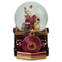 Northlight Santa Claus on a Train Snow Globe in Purple