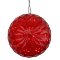 6-Inch LED Lighted Ball Decoration in Red
