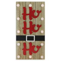 """Ho Ho Ho"" Battery-Operated Holiday Wall Decor"