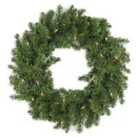 30-Inch Pre-Lit Canadian Pine Wreath