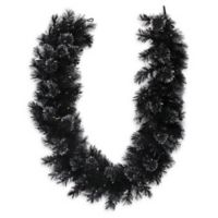 Northlight Black Bristle Pre-Lit Garland in Black