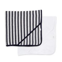 Burt's Bees Baby® 2-Pack Striped Hooded Towels in Blueberry