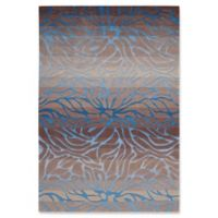 Nourison Contour 3'6 x 5'6 Handcrafted Area Rug in Ocean/Sand
