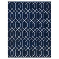 Marilyn Monroe® Trellis Glam Navy Blue 8' X 10' Powerloomed Area Rug in Navy