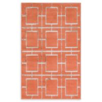 Marilyn Monroe® Deco Glam Coral/silver 2' X 3' Powerloomed Area Rug in Coral/silver