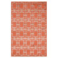 Marilyn Monroe® Deco Glam Coral/silver 4' X 6' Powerloomed Area Rug in Coral/silver