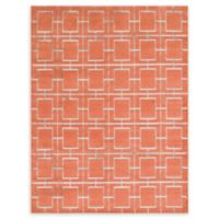Marilyn Monroe® Deco Glam Coral/silver 8' X 10' Powerloomed Area Rug in Coral/silver