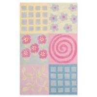 Safavieh Kids® Patchwork 3' x 5' Area Rug in Pink