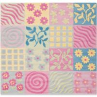 Safavieh Kids® Patchwork 5' Square Area Rug in Pink