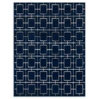 Marilyn Monroe® Deco Glam Navy Blue 8' X 10' Powerloomed Area Rug in Navy