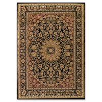 Dynamic Rugs® Yazd Medallion 2' x 3'6 Area Rug in Black/Black