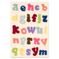 Safavieh Kids Alphabet 2' x 3' Accent Rug in Ivory/Multi
