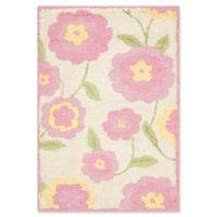 Safavieh Kids® Dandy Flower 3' x 5' Area Rug in Ivory/Pink