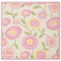 Safavieh Kids® Dandy Flower 5' Square Area Rug in Ivory/Pink