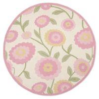 Safavieh Kids® Dandy Flower 6' Round Area Rug in Ivory/Pink